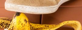 tråkke på bananskall